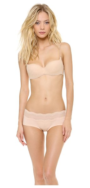 bbe8c313e Cosabella soire demi cup bra in blush - This mesh underwire bra features  removable padding at