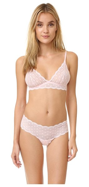 Cosabella sweet treats dots soft bra in pink lily