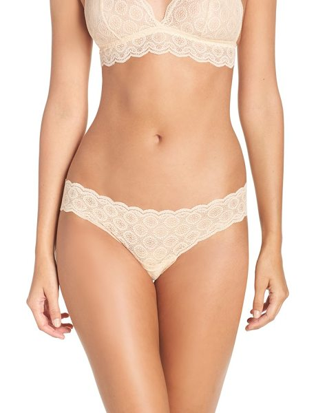 Cosabella 'sweet treats' thong in blush - Stretchy medallion-motif lace grants a soft, subtle fit...