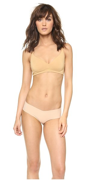 Cosabella talco wireless padded bra in nude - Molded cups lend structure to this jersey Cosabella bra....