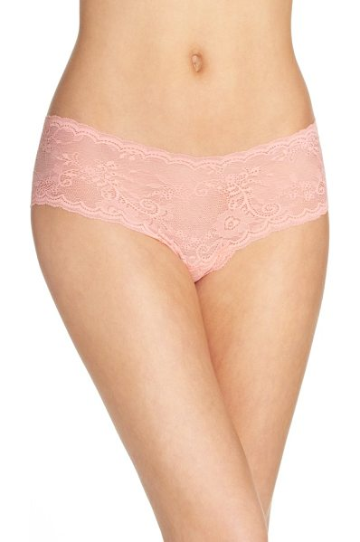 Cosabella 'trenta' lace briefs in peach nectar - A fine stretchy lace brief is designed to lay flat and...