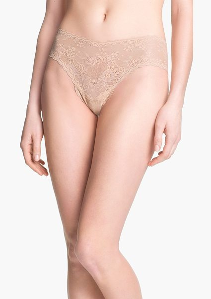 Cosabella 'trenta' low rise lace thong in nude