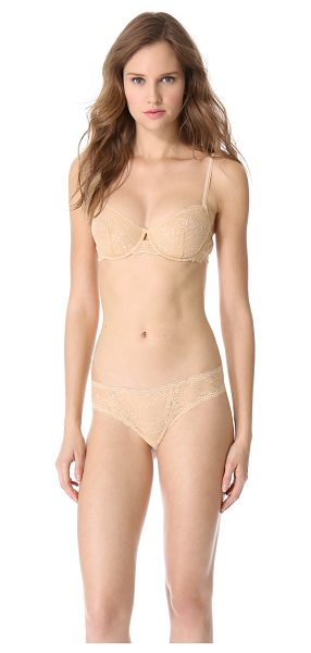 Cosabella trenta underwire bra in nude - An underwire bra made from delicate stretch lace....