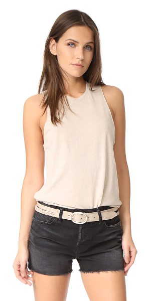 COTTON CITIZEN amsterdam tank in sand - Soft, pilled slubs lend a gently worn effect to this...