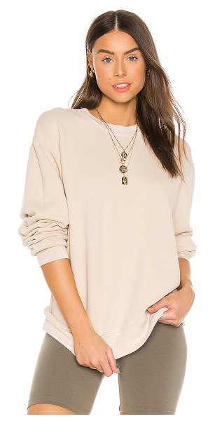 COTTON CITIZEN brooklyn oversized crew in vintage oatmeal