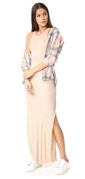 COTTON CITIZEN melbourne maxi dress in sand - NOTE: Runs true to size. Soft, ribbed jersey composes...