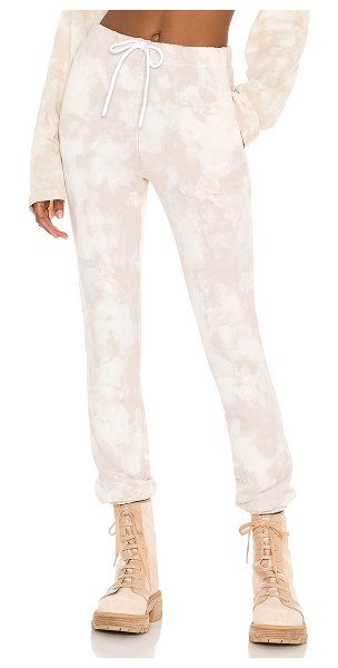 COTTON CITIZEN milan sweatpant in buttercream splatter