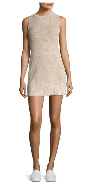 COTTON CITIZEN monaco cotton mini dress in sand dust - Textured mini dress crafted from soft cotton fabric....