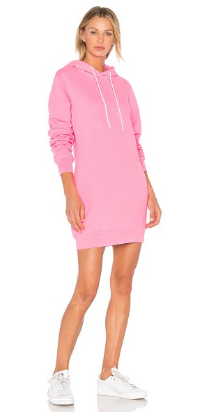COTTON CITIZEN Sweatshirt Dress - 100% cotton. Unlined. Drawstring hood. Back cut-out. Banded...