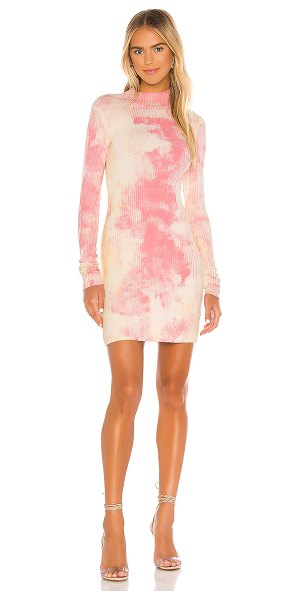 COTTON CITIZEN the ibiza mini dress in dahlia splatter