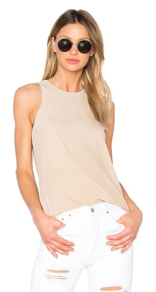 COTTON CITIZEN The Marbella Tank in beige - 100% supima cotton. Jersey knit fabric. Intentional...