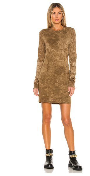 COTTON CITIZEN the tokyo long sleeve mini dress in toffee crystal