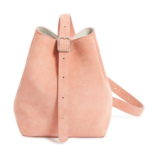 Creatures of Comfort small suede apple bag in pink suede - Soft, rosy suede refines a stylish shoulder bag crafted...
