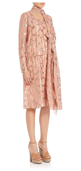 Creatures of the Wind Dalma dress in pink-gold - Avant-garde design in shimmering jacquardRound...