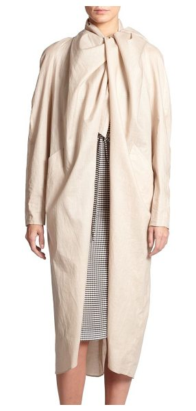 Creatures of the Wind Jet waterproof jacket in natural - An elegant draped collar is the focal point of this...