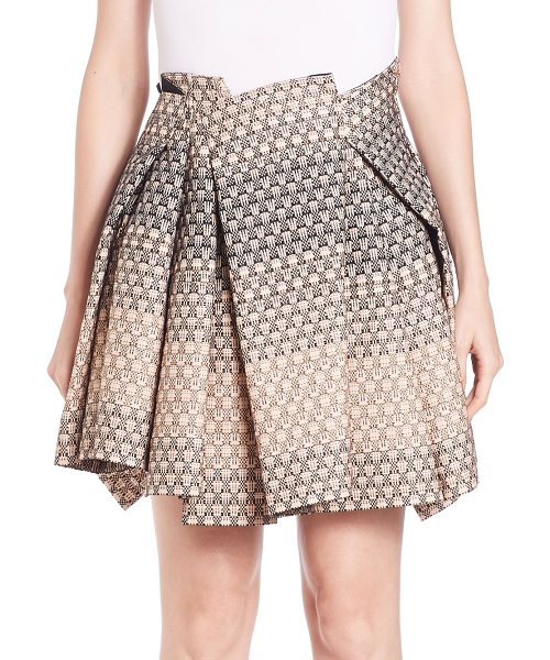Creatures of the Wind Sevas pleated silk skirt in creamfade - Asymmetric pleats shape ombre-patterned skirtGathered...