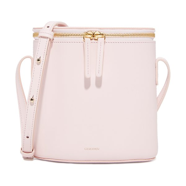 Cuero & Mor mini bucket bag in blush - A structured Cuero & Mor bucket bag in supple calfskin....