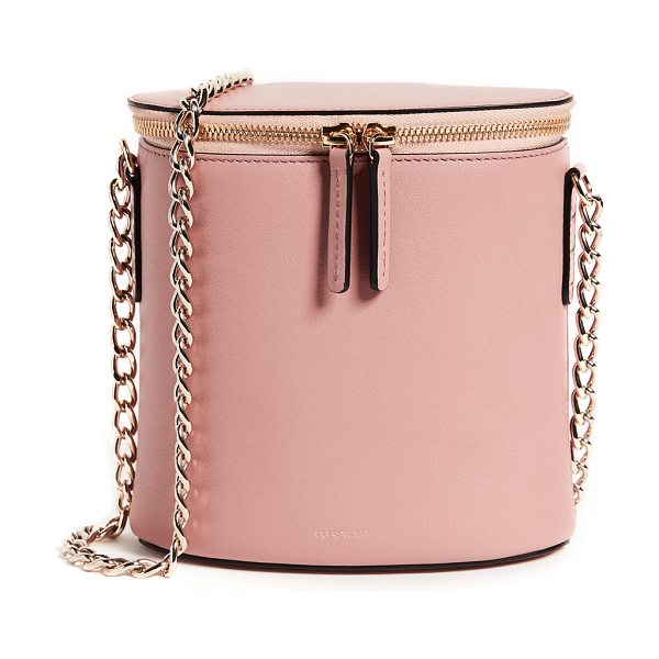 Cuero & Mor perla chain bag in dusty rose