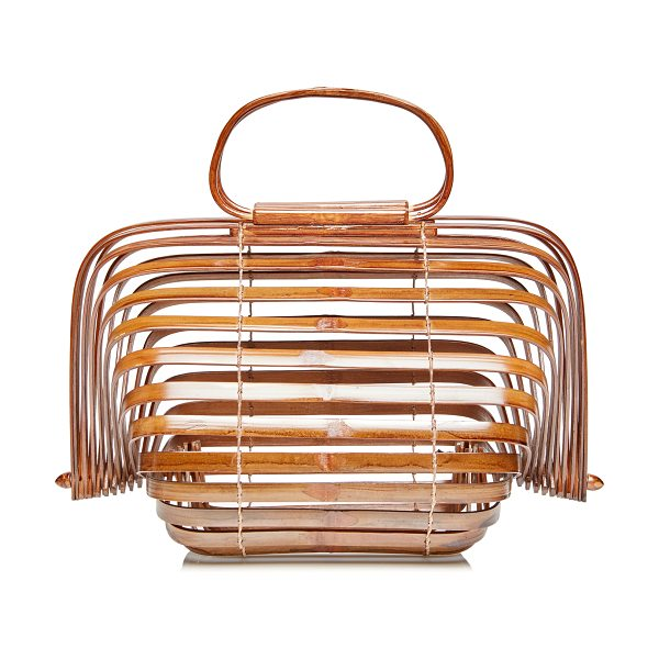 CULT GAIA Large Lilleth Top Handle - This *Cult Gaia* Lilleth bag is rendered in bamboo and...