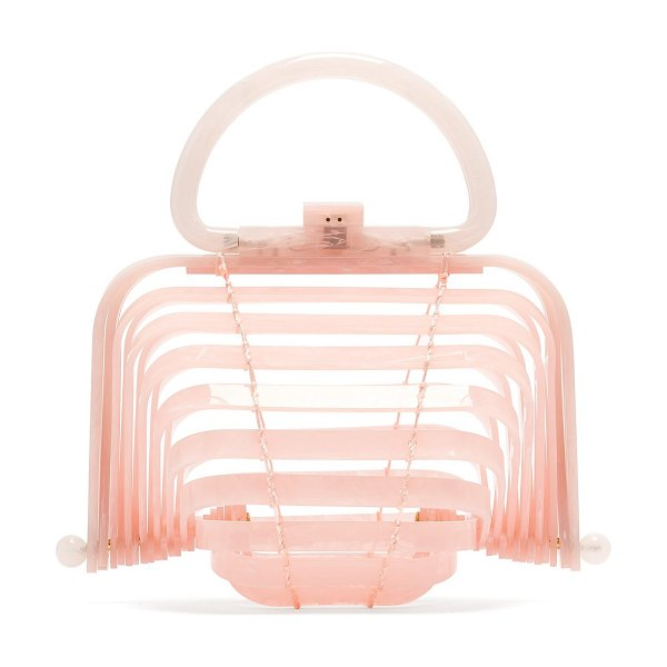 CULT GAIA Lilleth clutch bag in light pink - Cult Gaia is synonymous with a sculptural approach to...
