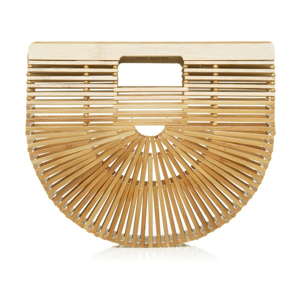 Cult Gaia Mini Gaia's Bamboo Ark in neutral - This *Cult Gaia* ark bag is rendered in bamboo and...