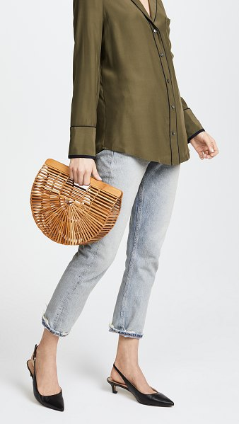 Cult Gaia small gaia's ark bag in natural - This transparent, crescent-shaped Cult Gaia bag is made...