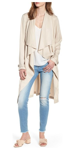 cupcakes and cashmere anamaria jacket in latte - A draped, open front brings a contemporary look to a...
