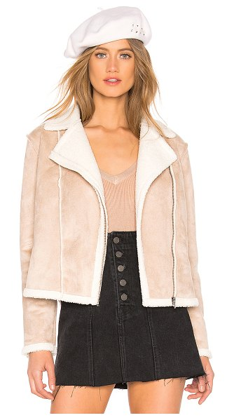 cupcakes and cashmere Bruntel Jacket in tan - Self & Faux Shearling Lining: 100% poly. Hand wash cold....