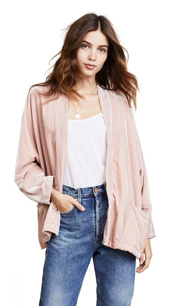 cupcakes and cashmere chevelle dolman jacket in misty rose - A lightweight cupcakes and cashmere jacket in soft...