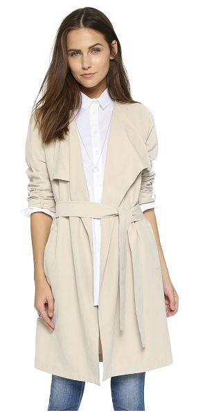 cupcakes and cashmere Claremont coat in cafe au lait - This soft cupcakes and cashmere trench coat has a...
