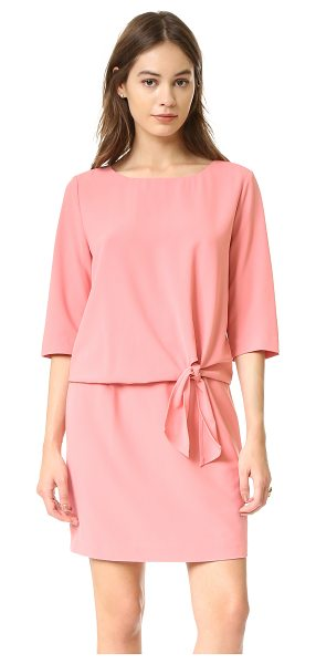 cupcakes and cashmere Mini dress with tie detail in pink blush - Ties accent the waist of this relaxed cupcakes and...