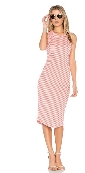 cupcakes and cashmere Rydell Dress in coral - Cotton blend. Unlined. Thermal knit fabric. CUPR-WD28....