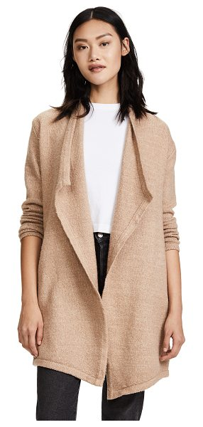 cupcakes and cashmere sahar drape cardigan in light caramel - A soft cardigan from cupcakes and cashmere with a...