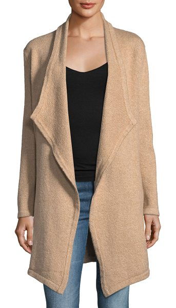 "cupcakes and cashmere Sahar Open-Front Long-Sleeve Cotton-Blend Cardigan in brown - Cupcakes and Cashmere ""Sahar"" cardigan. Open front. Long..."