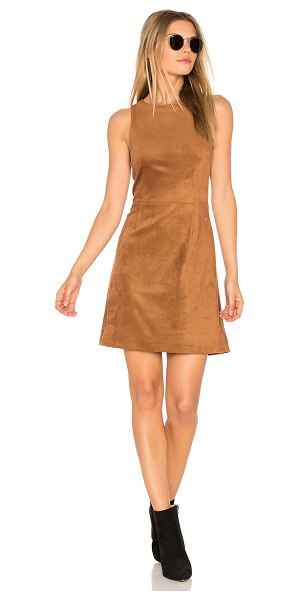 cupcakes and cashmere Savi Dress in brown - 90% poly 10% spandex. Dry clean only. Unlined. Suede...