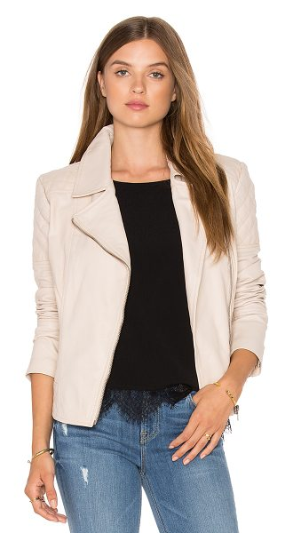 cupcakes and cashmere Yumi Jacket in beige - Self: 100% leatherLining: 100% poly. Professional...
