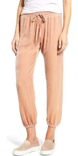 Current/Elliott the eden jogger pants in muted misty rose - Soft, drapey fabric infused with silk upgrades...