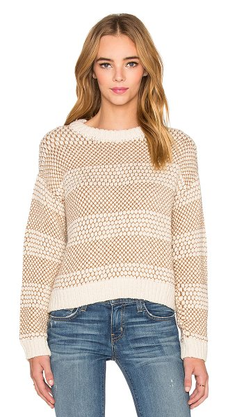 Current/Elliott The Mixed Stitch Sweater in tan - 95% alpaca 5% polyamide. Dry clean only. CURR-WK9. 2624...