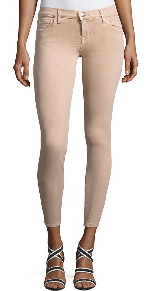 "Current/Elliott The Stiletto Skinny Jeans in blush - Current/Elliott ""The Stiletto"" jeans in super-stretch..."
