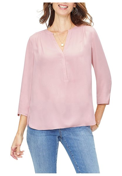 CURVES 360 BY NYDJ perfect blouse in pink