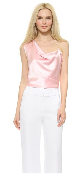 Cushnie et Ochs Asymmetrical top in pink - An effortless Cushnie et Ochs top composed of lustrous...