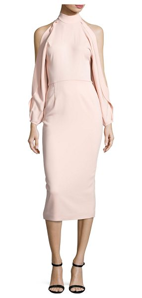 CUSHNIE ET OCHS Bell-Sleeve Mock-Neck Sheath Dress - Cushnie et Ochs stretch cady dress. Mock neckline. Long...