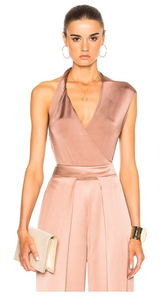 Cushnie et Ochs Gloss Jersey Bodysuit in neutrals,pink - 85% viscose 9% polyamide 6% elastan.  Made in USA.  Dry...