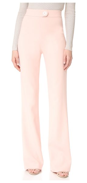 Cushnie et Ochs high waisted pants in shell - Cushnie Et Ochs pants in a high-waisted, wide-leg...