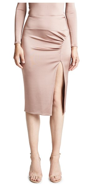 Cushnie et Ochs jersey pencil skirt in dune - Fabric: Slinky jersey Curved ruching Double layered Side...