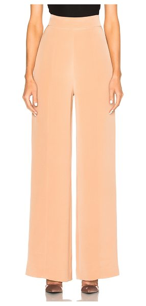 Cushnie et Ochs Silk Crepe Wide Leg Pants in pink - 100% silk.  Made in USA.  Dry clean only.  Hidden back...