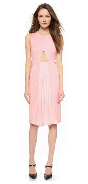 Cushnie et Ochs Sleeveless dress in desert rose - Gathered chiffon pours from an angular cutout on this...