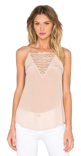 Custommade Elvira silk cami in blush - Shell: 100% silkTrim: 100% poly. Hand wash cold....