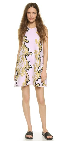 Cynthia Rowley Bonded racer a line dress in gold branch - A neoprene Cynthia Rowley dress in a loose, A line...