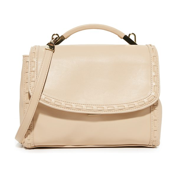 Cynthia Rowley gemma satchel in nude - Whipstitching trims the edge of this faux-leather...